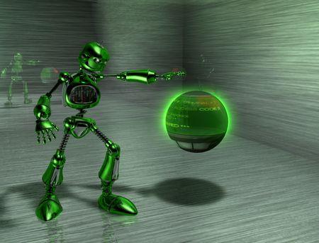 robot with an attitude Stock Photo - 3821512