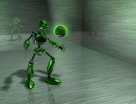 robot with an attitude Фото со стока