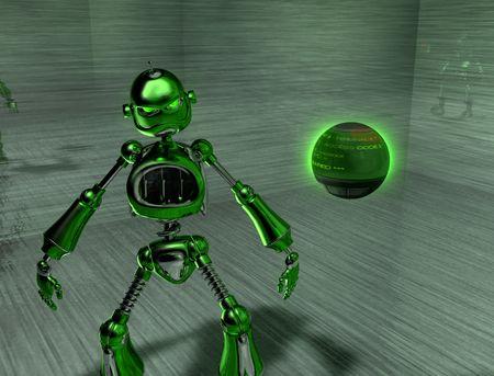 robot with an attitude photo