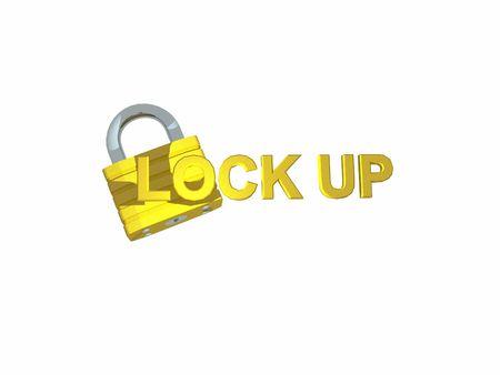 or lock up: Bloqueo de seguridad Foto de archivo