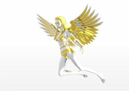 silver angel Stock Photo