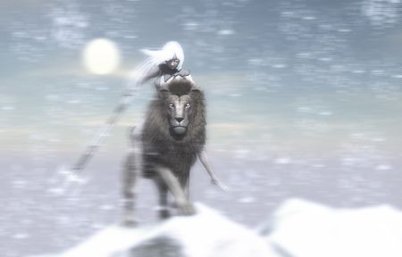 gaurd: ice mage and snow lion