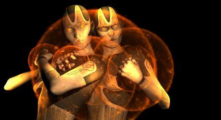 female cyborg sisters photo
