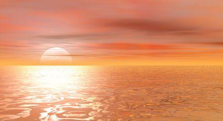 sea scape: sea scape sundown
