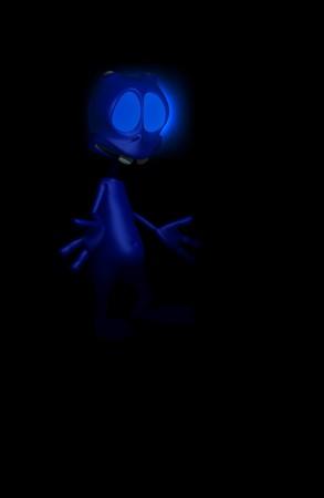 alien in the dark Stock Photo