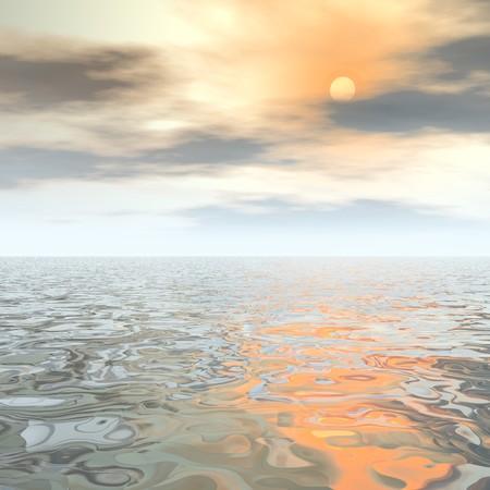 sea scape: digital sea scape Stock Photo