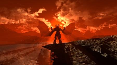 satanas: demonio Foto de archivo