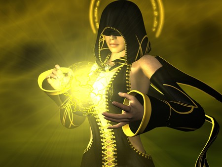 ambience: female wizard