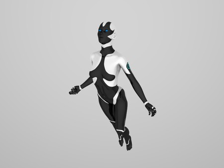 female cyborg photo