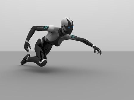 female cyborg Imagens