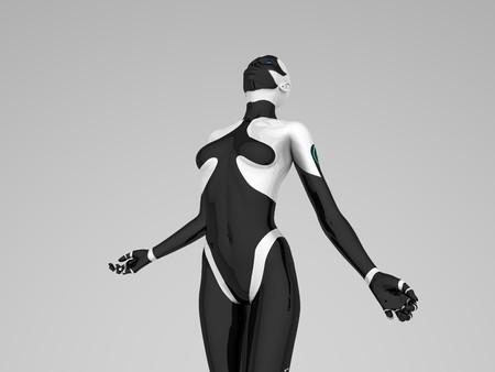 hidef: female cyborg Stock Photo