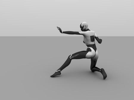 female cyborg photo