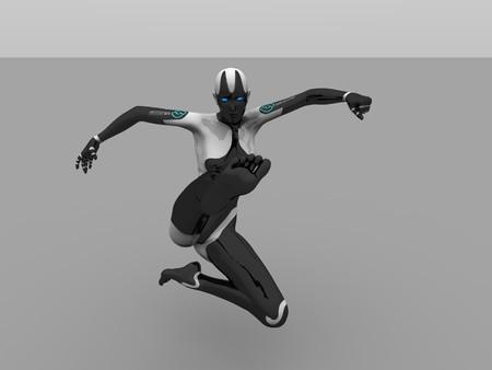 female cyborg Banco de Imagens