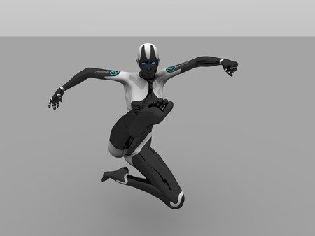 sexy army: female cyborg Stock Photo