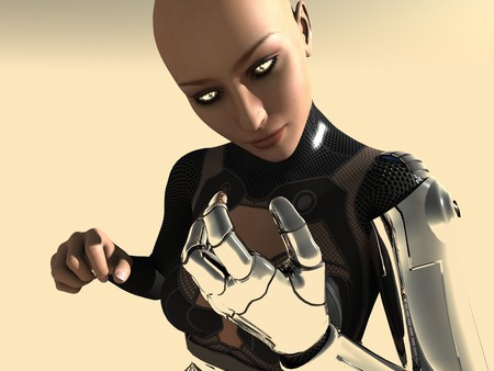 cyber girl: female android