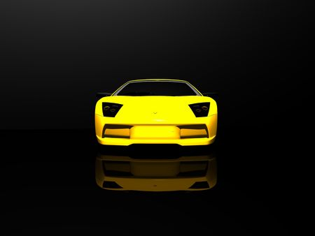sleek: sports car Stock Photo