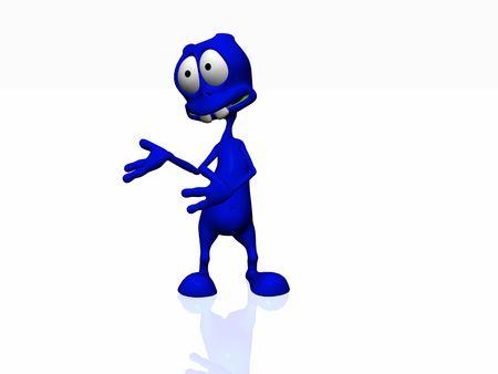 cartoon alien photo