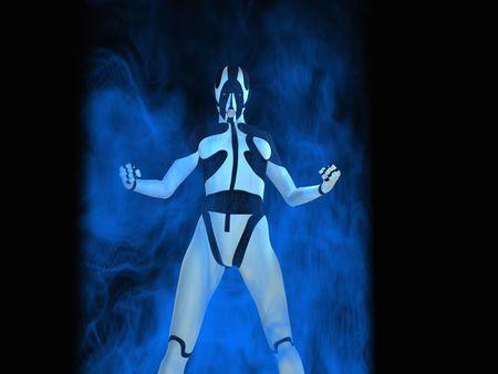 female cyborg Standard-Bild