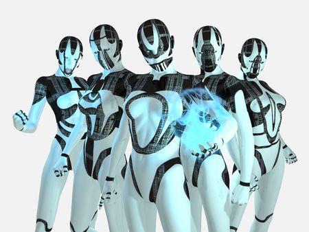 cyborg group Фото со стока - 4906640
