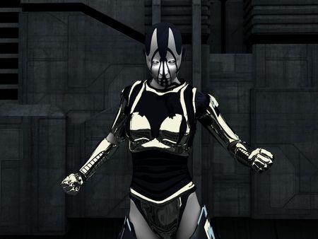 cyborg in pose Stock Photo - 5106122