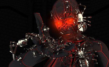 Carattere di cyborg Black widow Archivio Fotografico - 5407898