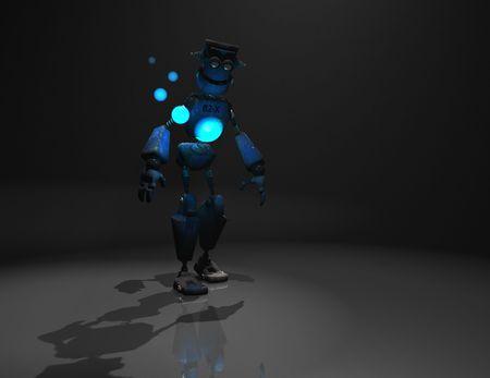 3d render of robot in the dark Stock Photo - 5520501