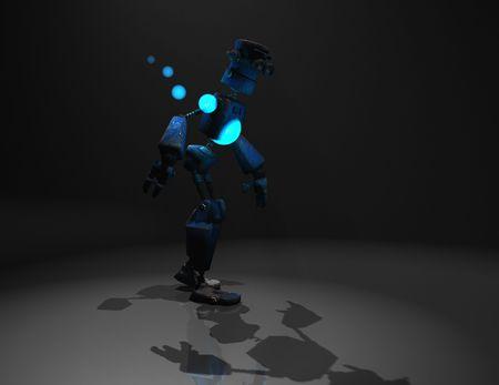 3d render of robot in the dark Stock Photo - 5520523