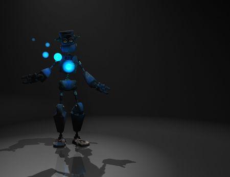 3d render of robot in the dark Stock Photo - 5519936