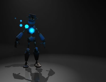 3d render of robot in the dark Stock Photo - 5520543