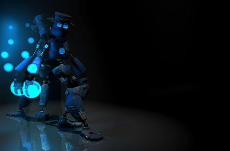 3d render of robot in the dark Stock Photo - 5520541