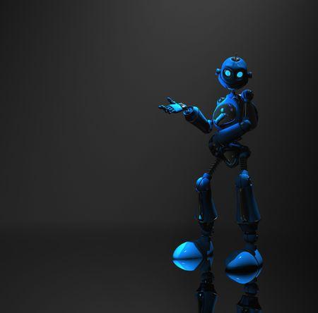 blue robot Stock Photo - 5520563
