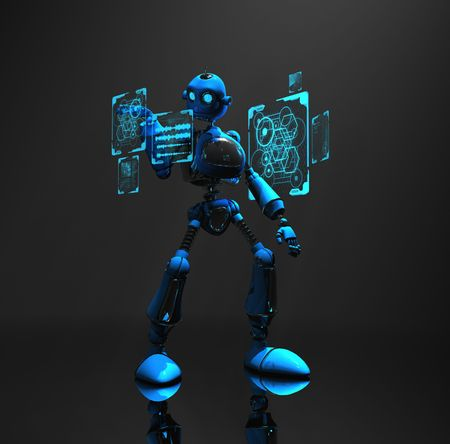 blue robot Stock Photo - 5520561
