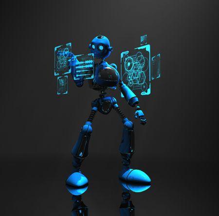blue robot Stock Photo - 5520561