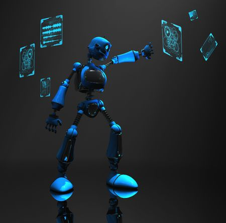 blue robot Stock Photo - 5520579