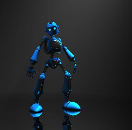 blue robot Stock Photo - 5520574