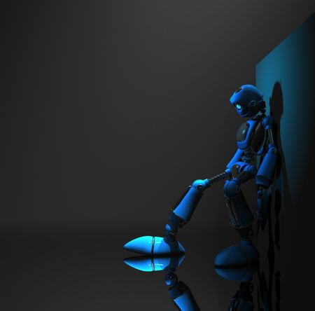 blue robot photo