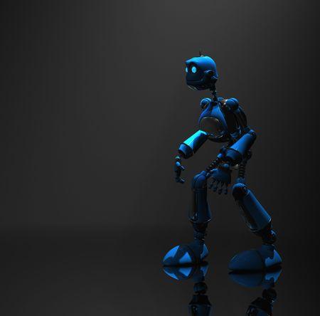 blue robot Stock Photo - 5520556