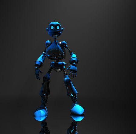 blue robot Stock Photo - 5520566