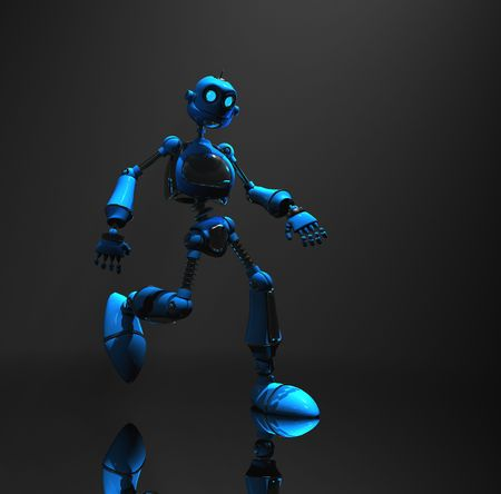 blue robot Stock Photo - 5520555