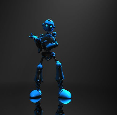 blue robot Stock Photo - 5520552