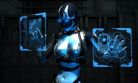 cyborg using holographic computers