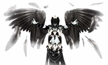fallen: Fallen Angel Stock Photo