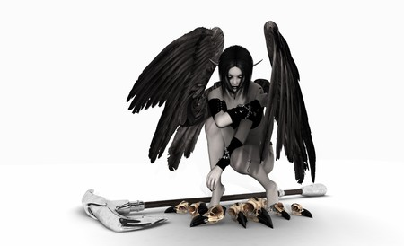 fallen: Fallen Angel Stock Photo