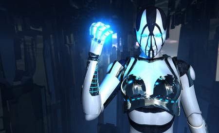 warriors: cyborg holding energy charge