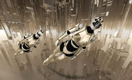 cyborgs flying photo