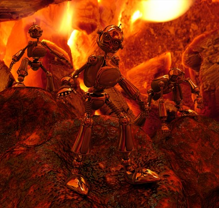 emerge: Robots emerge from fire