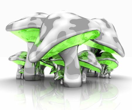 alloy: metal mushrooms