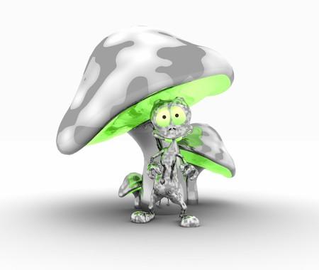 alien and metal mushrooms Reklamní fotografie