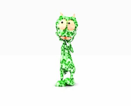 cartoon alien: Cartoon Alien Stock Photo