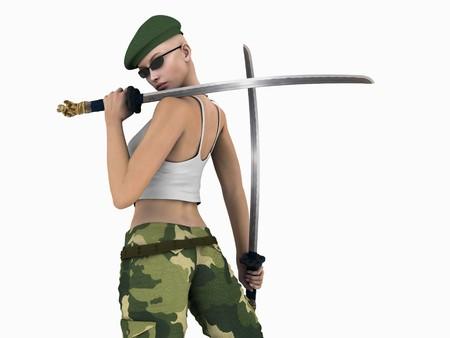 warriors: Soldier woman